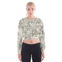 Wall Rock Pattern Structure Dirty Cropped Sweatshirt