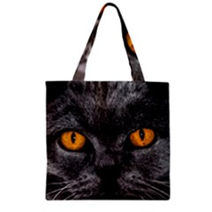 Cat Eyes Background Image Hypnosis Zipper Grocery Tote Bag by BangZart