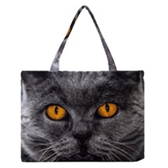 Cat Eyes Background Image Hypnosis Medium Zipper Tote Bag by BangZart