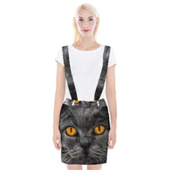 Cat Eyes Background Image Hypnosis Braces Suspender Skirt