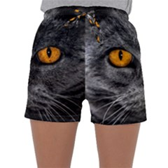 Cat Eyes Background Image Hypnosis Sleepwear Shorts
