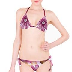 Flower Print Fabric Pattern Texture Bikini Set