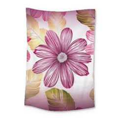 Flower Print Fabric Pattern Texture Small Tapestry