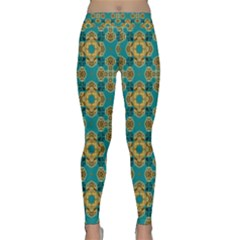 Vintage Pattern Unique Elegant Classic Yoga Leggings