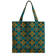 Vintage Pattern Unique Elegant Zipper Grocery Tote Bag by BangZart