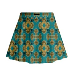 Vintage Pattern Unique Elegant Mini Flare Skirt