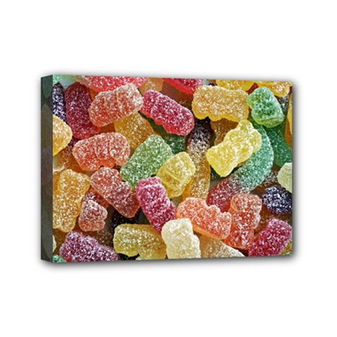 Jelly Beans Candy Sour Sweet Mini Canvas 7  X 5  by BangZart