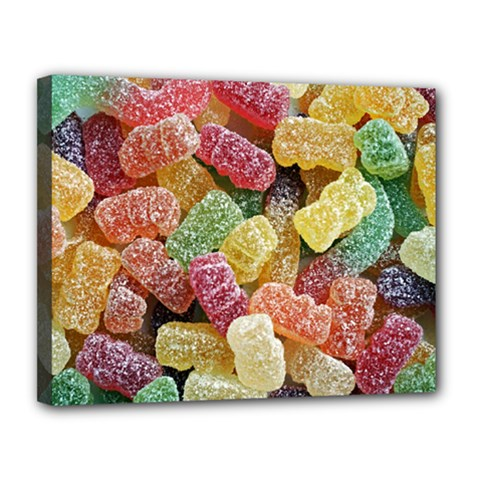 Jelly Beans Candy Sour Sweet Canvas 14  X 11  by BangZart