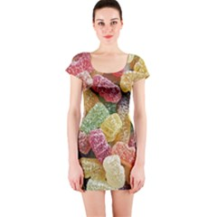 Jelly Beans Candy Sour Sweet Short Sleeve Bodycon Dress