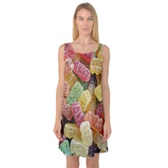 Jelly Beans Candy Sour Sweet Sleeveless Satin Nightdress