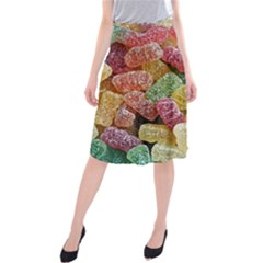 Jelly Beans Candy Sour Sweet Midi Beach Skirt