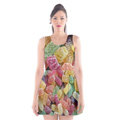 Jelly Beans Candy Sour Sweet Scoop Neck Skater Dress