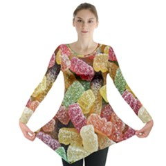 Jelly Beans Candy Sour Sweet Long Sleeve Tunic