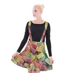 Jelly Beans Candy Sour Sweet Suspender Skater Skirt