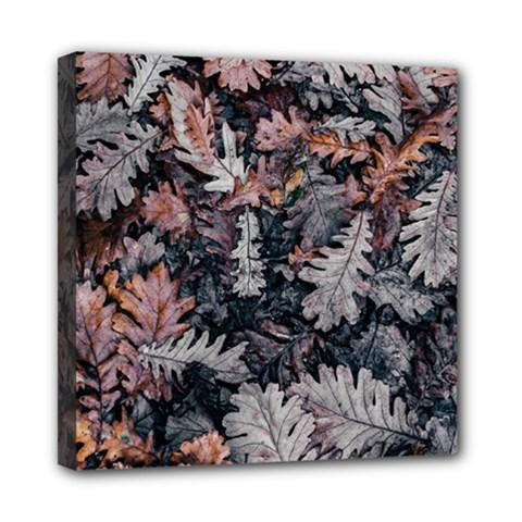 Leaf Leaves Autumn Fall Brown Mini Canvas 8  X 8