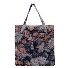 Leaf Leaves Autumn Fall Brown Grocery Tote Bag by BangZart