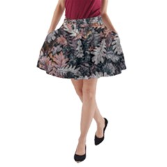 Leaf Leaves Autumn Fall Brown A Line Pocket Skirt by BangZart