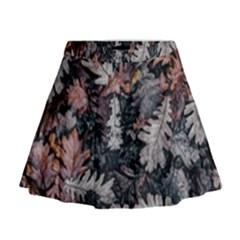 Leaf Leaves Autumn Fall Brown Mini Flare Skirt