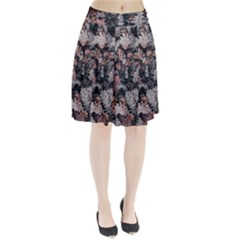 Leaf Leaves Autumn Fall Brown Pleated Skirt