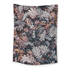Leaf Leaves Autumn Fall Brown Medium Tapestry by BangZart