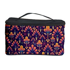 Abstract Background Floral Pattern Cosmetic Storage Case by BangZart