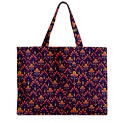 Abstract Background Floral Pattern Zipper Mini Tote Bag by BangZart