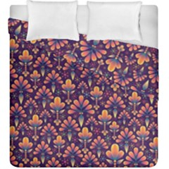 Abstract Background Floral Pattern Duvet Cover Double Side (king Size) by BangZart