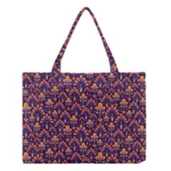 Abstract Background Floral Pattern Medium Tote Bag by BangZart