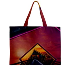 The Rainbow Bridge Of A Thousand Fractal Colors Zipper Mini Tote Bag by jayaprime