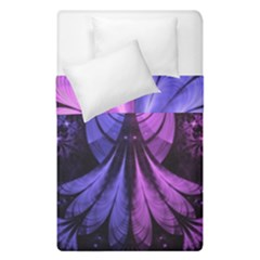 Beautiful Lilac Fractal Feathers Of The Starling Duvet Cover Double Side (single Size) by jayaprime