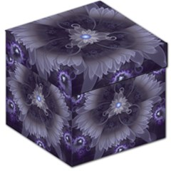 Amazing Fractal Triskelion Purple Passion Flower Storage Stool 12   by jayaprime