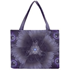 Amazing Fractal Triskelion Purple Passion Flower Mini Tote Bag by beautifulfractals