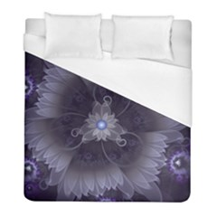 Amazing Fractal Triskelion Purple Passion Flower Duvet Cover (full/ Double Size) by jayaprime