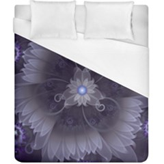 Amazing Fractal Triskelion Purple Passion Flower Duvet Cover (california King Size) by jayaprime