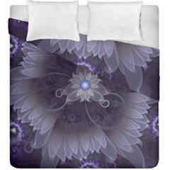 Amazing Fractal Triskelion Purple Passion Flower Duvet Cover Double Side (king Size) by jayaprime