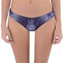Amazing Fractal Triskelion Purple Passion Flower Reversible Hipster Bikini Bottoms by jayaprime