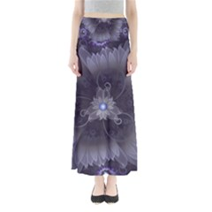Amazing Fractal Triskelion Purple Passion Flower Full Length Maxi Skirt by jayaprime
