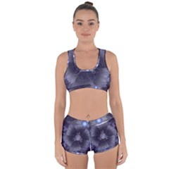 Amazing Fractal Triskelion Purple Passion Flower Racerback Boyleg Bikini Set by jayaprime