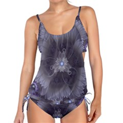 Amazing Fractal Triskelion Purple Passion Flower Tankini by beautifulfractals