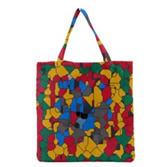Stained Glass                        Grocery Tote Bag by LalyLauraFLM