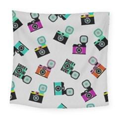Old Cameras Pattern                       Fleece Blanket by LalyLauraFLM