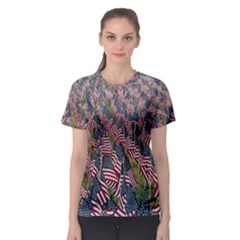 Repetition Retro Wallpaper Stripes Women s Sport Mesh Tee