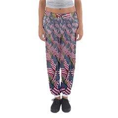 Repetition Retro Wallpaper Stripes Women s Jogger Sweatpants