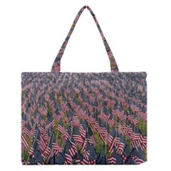 Repetition Retro Wallpaper Stripes Medium Zipper Tote Bag