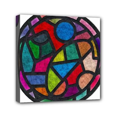 Stained Glass Color Texture Sacra Mini Canvas 6  X 6  by BangZart