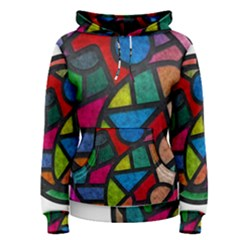 Stained Glass Color Texture Sacra Women s Pullover Hoodie by BangZart