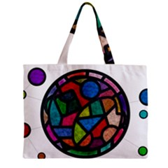 Stained Glass Color Texture Sacra Zipper Mini Tote Bag by BangZart