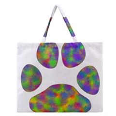 Paw Zipper Large Tote Bag by BangZart