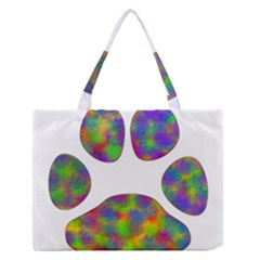 Paw Medium Zipper Tote Bag