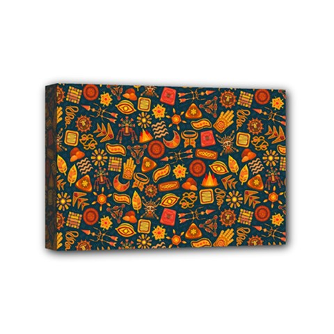 Pattern Background Ethnic Tribal Mini Canvas 6  X 4  by BangZart